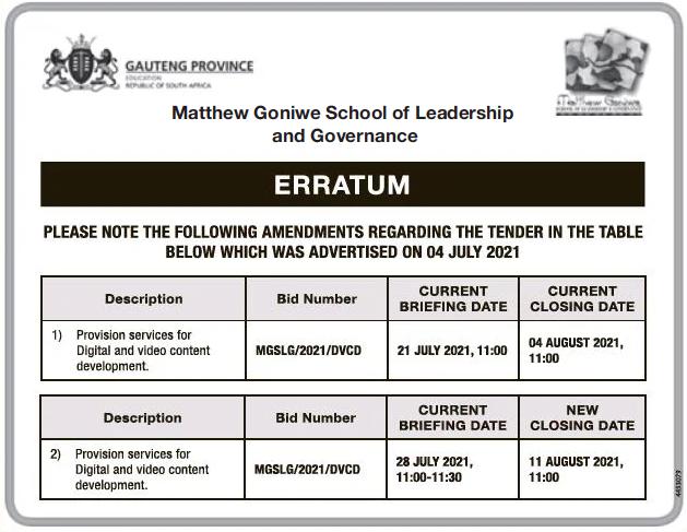 Erratum- Provision Services for Digital and Video Content Development