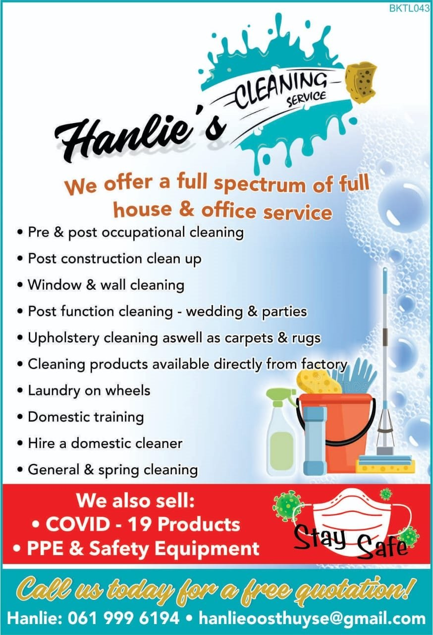 Business Listing for Hanlies Cleaning Services